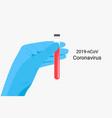 wuhan coronavirus 2019-ncov concept vector image