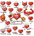 cartoon hearts vector image