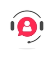 Customer support vecot icon phone assistant logo vector image
