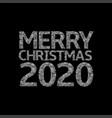 2020 broken silver numbers vector image vector image
