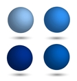 3D sphere Set of realistic balls of different vector image vector image