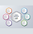 6 steps infographic with different color vector image vector image