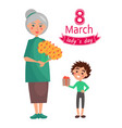 8 march ladys day poster vector image vector image