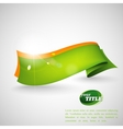 abstract background with a green ribbon vector image vector image