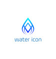 abstract blue water drop logo design templ vector image