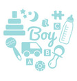 baby and newborn set for a boy vector image vector image