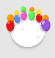 balloon banner happy birthday background vector image