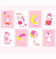 bashower invitation cards collection vector image vector image