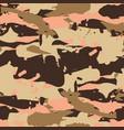 beige desert seamless pattern - camouflage vector image