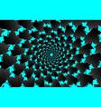 black leaf of sycamore on blue background vector image