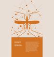 brochure or flyer design virus diseases relative vector image vector image