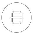 buckle icon black color in circle vector image vector image