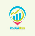 business trend logo template concept vector image vector image