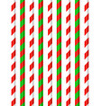 candy cane pattern on white year vector image