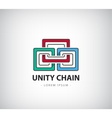 chain logo unity concept identity for vector image