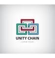 chain logo unity concept identity vector image vector image