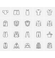 Clothes for men sketch icon set vector image