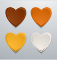 coloured paper hearts set collection of hearts vector image