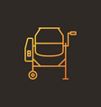 concrete mixer colored linear icon - mixer vector image