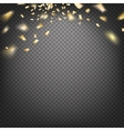 Confetti on transparent vector image vector image