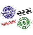 damaged textured mycoplasma seal stamps vector image vector image