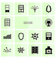 decor icons vector image vector image