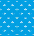 delivery quality pattern seamless blue vector image vector image