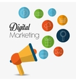 Digital Marketing design vector image vector image