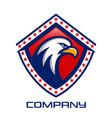 eagle shield logo vector image vector image