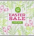 easter sale template web discount banner vector image vector image