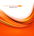 elegant abstract orange background vector image vector image