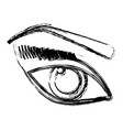 female eye icon vector image vector image