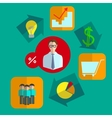 Fixated business infographics icons set vector image vector image