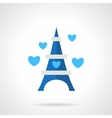 Flat blue romantic trip icon vector image vector image