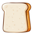 fresh bread toast for breakfast made in cartoon vector image vector image