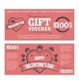 Gift voucher Valentines day vector image