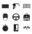 goal icons set simple style vector image vector image