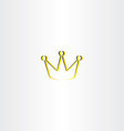golden king crown logo vector image