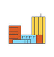 goverment building line icon concept goverment vector image vector image