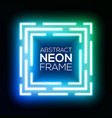 gradient blue and green neon light abstract square vector image vector image