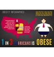 Graphic warning poster Obesity Infographics vector image vector image