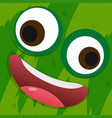 happy face on green background vector image