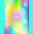 holographic background with liquid shapes dynamic vector image