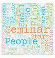 How To Market Your Seminar to Your Local Market vector image vector image