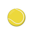 Icon of yellow tennis ball in cartoon style