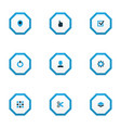 interface icons colored set with user task cut vector image vector image