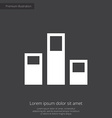 levels premium icon white on dark background vector image vector image