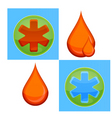 medic icons vector image