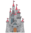 Medieval and fantasy castle vector image