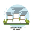 nuclear plant in colorful design vector image vector image